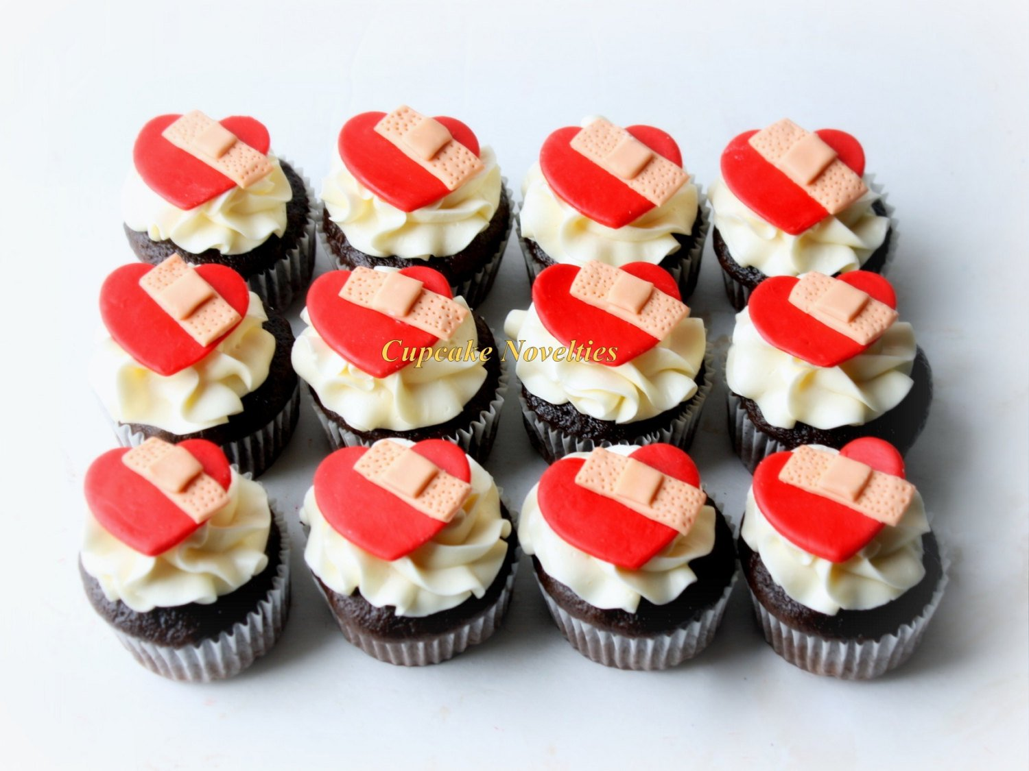 Mended Heart CHD Congenital Heart Disease Warrior chd Anniversary Cupcakes Fondant Toppers diy Decoration Treats CHD Awareness CHD Mom