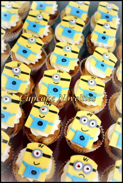 Despicable Me Birthday Minions Birthday Cupcakes Fondant Toppers DIY Decoration Edible Treats Despicable Me Party Minion Party Favor Gru