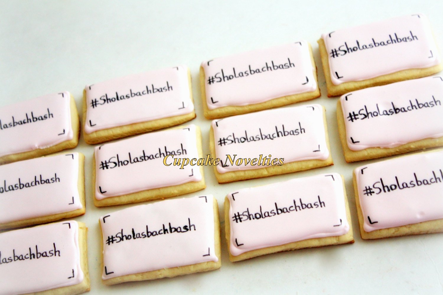 Hashtag Cookies Decorated Sugar Cookies Wedding Welcome Bags Treats Wedding Favors Corporate Logo Theme Corporate Gift Instagram Tag Cookies