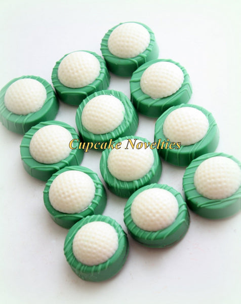 Golf Ball Chocolate Oreos Cookies Pops Birthday Party Favors Sports Birthday Fathers Day Gift Ideas Golf Retirement Party Golf Club Green
