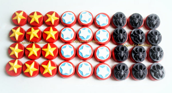 Spiderman Birthday Chocolate Oreos Cookies Spiderman Cookies Halloween Cookies Spiderman Party Favor Halloween Favor Superhero Birthday Idea
