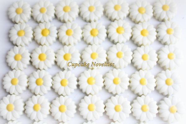 Spring Cookies Daisy Flower Cookies Garden Easter Chocolate Flower Baptism Cookies Wedding Favors Bridal Shower Mothers Day Cowgirl Birthday