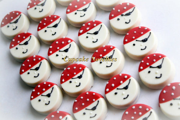 Pirate Birthday Chocolate Oreos Cookies Pirate Cookies Jake and the Neverland Pirate Birthday Favors Ahoy Matey Sailor Nautical Baby Shower