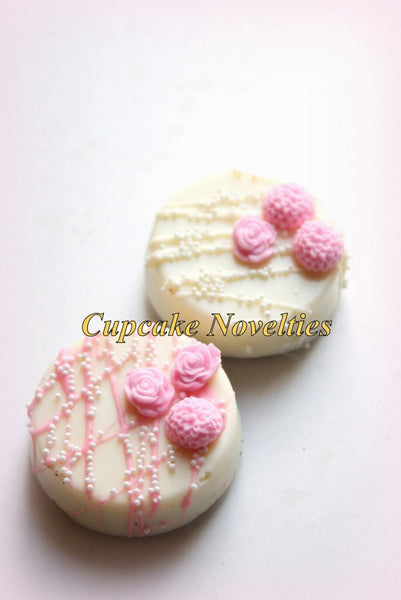 Spring Cookies Mothers Day Cookies Flowers Chocolate Oreos Cookies Wedding Favors Girl Baby Shower Bridal Shower Garden Birthday Edible Idea