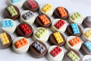 Building Blocks Birthday Bricks Building Blocks Chocolate Oreos Building Blocks Cookies Pops Party Favors Theme Party Cookies Edible Favors