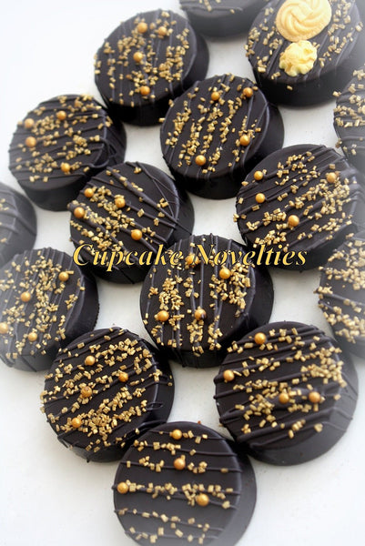 Art Deco Cookies Chocolate Oreos Great Gatsby Cookies Great Gatsby Party 1920s Party Vintage Cookies Black Gold Cookies Gatsby Party Favor