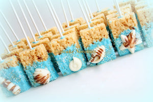 Under the Sea Party Under the Sea Birthday Baby Shower Bridal Seashell Chocolate Rice Krispie Treats Ocean Beach Wedding Mermaid Birthday