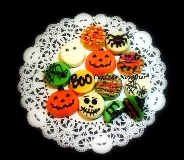 Halloween Cookies Halloween Chocolate Halloween Oreos Jack O Lantern Cookies Mummy Spider Boo Pumpkin Halloween Decor Favors Trick or Treat