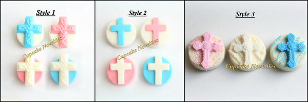 First Holy Communion Christening Cross Chocolate Oreos Baptism Cookies Gifts Custom Decorated Edible Christian Baptism Favors Dessert Ideas