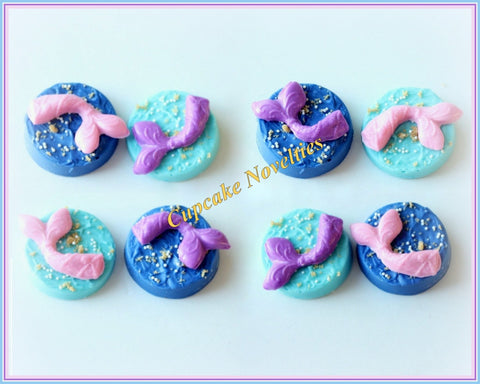 Mermaid Birthday Favors Under the Sea Birthday Bridal Shower Mermaid Cookies Chocolate Oreos Ocean Beach Wedding Mermaid Tail Girl Birthday
