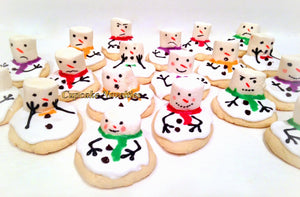 Stocking Stuffers Christmas Cookies Holiday Cookies Melting Snowman Cookies Classroom Party Cookie for Santa Olaf Cookies Frosty The Snowman