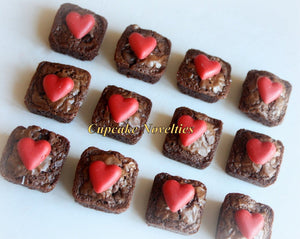 Valentines Day Gifts Valentines Day Chocolate Brownies Valentine's Day Gift Box Valentines Day Edible Gift Heart Brownie Mini Brownies Bites