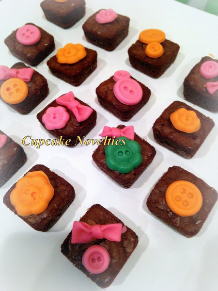 Lalaloopsy Birthday Gourmet Chocolate Brownies Cookies Party Favors Classroom Treats Dessert Table Buttons Bows Blossom Sprinkles
