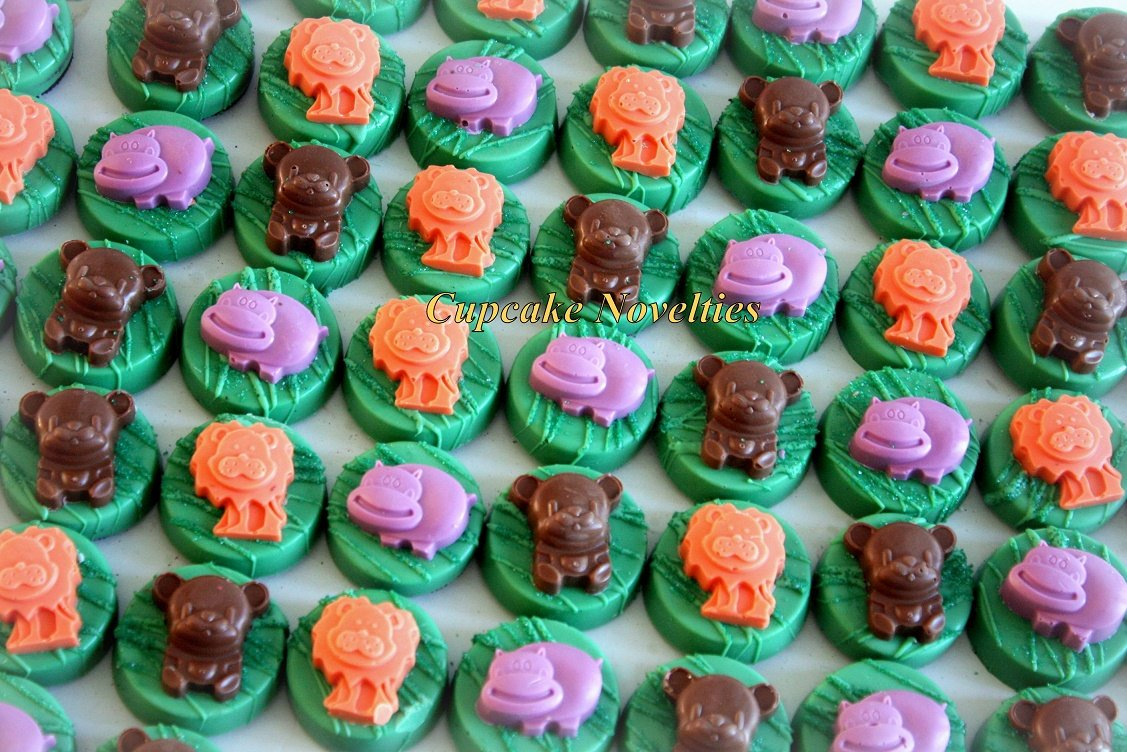Jungle Birthday Chocolate Oreos Jungle Animal Cookies Go Diego Go Birthday Jungle Baby Shower Safari Birthday Cookie Jungle Party Favors Zoo