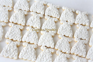 Baptism Cookies First Holy Communion Cookies Christening Cookies Baptism Dress Cookies Gifts Edible Favors Baptism Favors Baby Dress Cookies