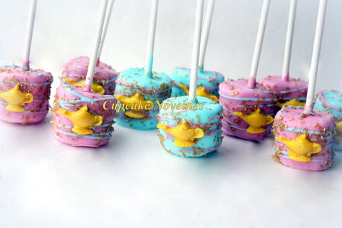 Princess Jasmine Birthday Party Favors Jasmine Birthday Genie Lamp Marshmallows Chocolate Marshmallows Alladin Birthday Jasmine Cookies Lamp