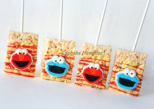 Elmo Cookies Elmo Birthday Party Favors Elmo Party Sesame Street Favors Birthday Party Cookies Monster Birthday Rice Krispie Treats Dessert