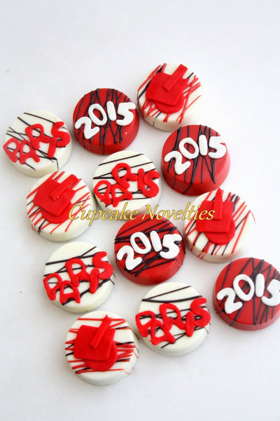 Graduation Cookie Graduation Favors Grad Cap Monogram Name Chocolate Oreos Graduation Party High School Grad College Graduation School Color