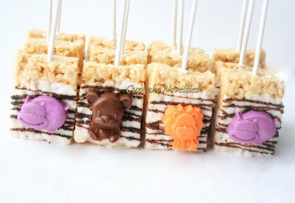 Jungle Birthday Chocolate Rice Krispie Treats Animal Cookies Go Diego Go Jungle Baby Shower Safari Birthday Cookie Jungle Party Favors Zoo