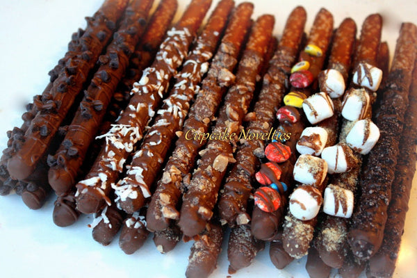 Gourmet Gift Gourmet Chocolate dipped Pretzels Thank you Gift Corporate Gifts Ideas Get Well Soon Holiday Gifts Hostess Gift Foodie Gifts