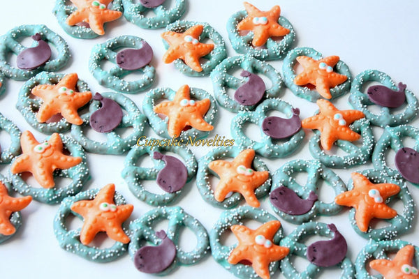 Whale Cookies Whale Baby Shower Favors Under the Sea Party Under the Sea Birthday Sea Baby Shower Starfish Whales Ocean Beach Wedding Favors