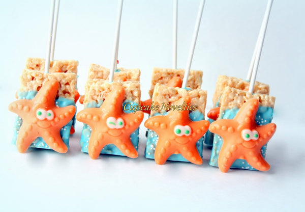 Starfish Cookies Under the Sea Party Under the Sea Birthday Sea Baby Shower Favor Starfish Chocolate Pretzels Ocean Beach Wedding Favor Idea