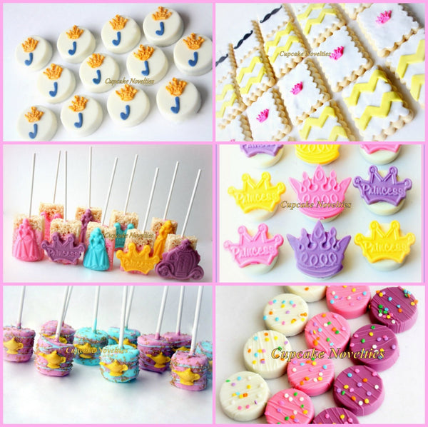 Princess Birthday Princess Cookies Crown Chocolate Pops Tiara Chocolate Candy Pops Princess Party Favors Dessert Princess Carriage Favors
