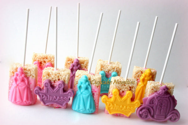 Princess Cookies Princess Birthday Crown Tiara Cookies Chocolate Rice Krispie Treats Princess Party Favors Dessert Princess Carriage Favors