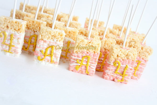 White Gold Birthday Pink Gold Birthday White Gold Wedding Favors Gold Cake Pops Pink Gold Baby Shower Gold Bridal Shower Glitter Cookies