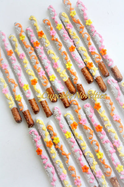 Fairy Birthday Flower Birthday Floral Birthday Party Spring Birthday Spring Baby Shower Favors Chocolate Pretzels Spring Cookies Mothers Day