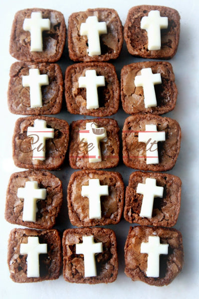 First Holy Communion Christening Cross Brownies Baptism Cookies Baptism Brownies Custom Brownies Favor Christian Baptism Favors Dessert Gift