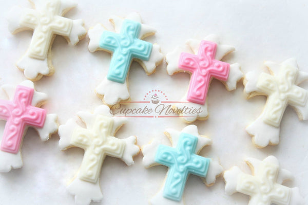 Cross Cookies Roman Cross First Holy Communion Cookies Christening Cookies Baptism Cookies Baptism Favors Christening Favors Communion Favor