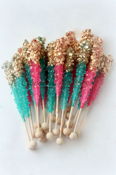 Shimmer and Shine Birthday, Mermaid Birthday Party Favors, Unicorn Birthday, Unicorn Baby Shower, Princess Birthday Favors, Pink Wedding Favors, Teal Pink Gold Rock Candy, Edible Party Favors, Dessert Table, Candy Bar, Mermaid Party Under the Sea Birthday Teal Pink Wedding Shimmer Shine Cookies