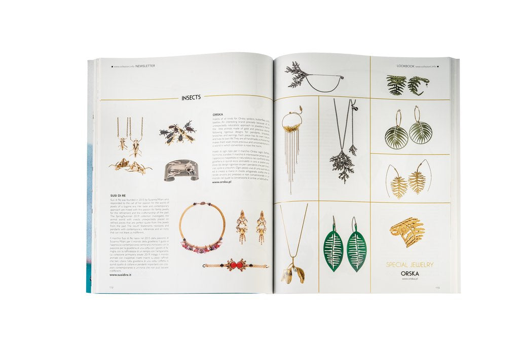 ORSKA jewellry presented in the Italian Collezioni Accessori!