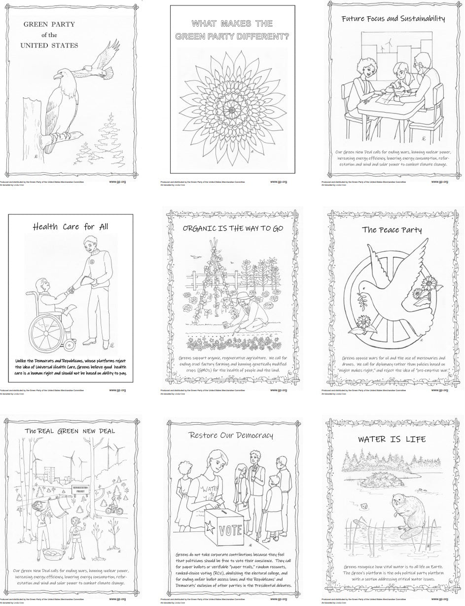 We Are Green Coloring Pages | Set 2 - Download