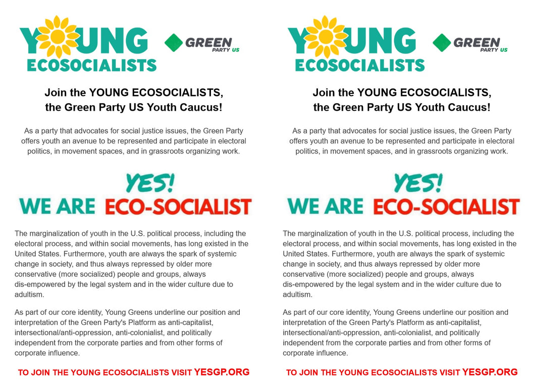 GPUS Youth Caucus | Young EcoSocialists | YES - Download