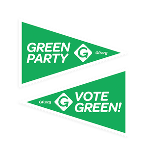 Green Party Diamond Pennant - Download