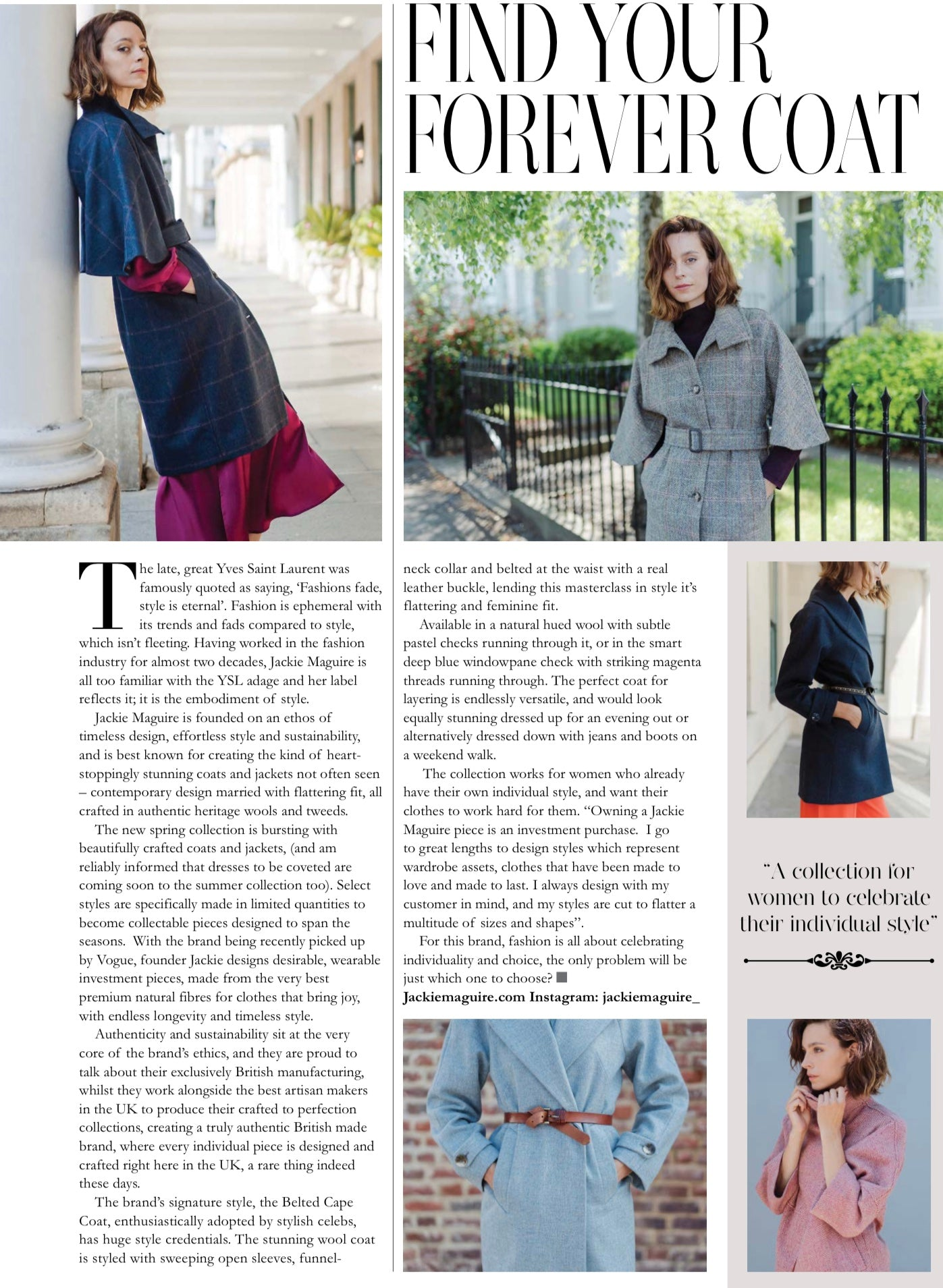 Chelsea life fashion feature Jackie Maguire