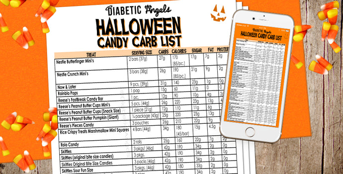 Halloween Candy Carb List by the Diabetic Angels