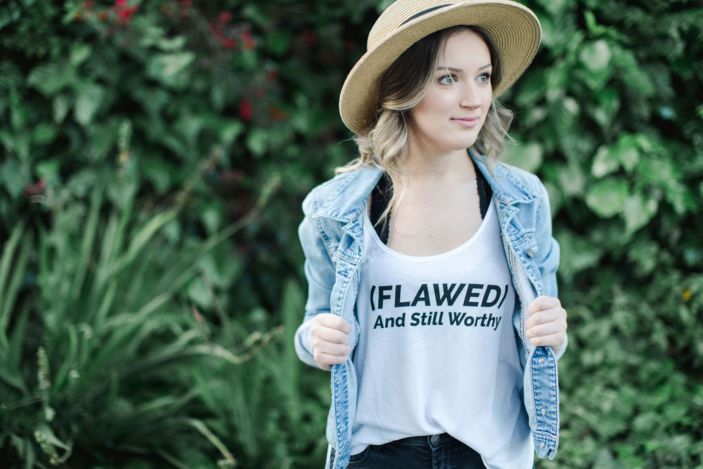 Flawed and Worthy Flowy Tank