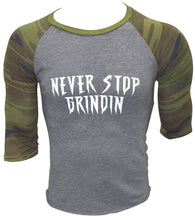 Load image into Gallery viewer, Never Stop Grindin Camo Unisex 3/4 Sleeves - Never Stop Grindin