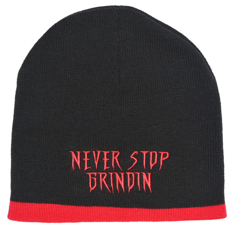 Never Stop Grindin Red Beanie at