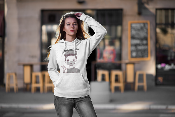 Anime Girl - Social Distance - Unisex Hoodie