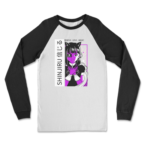 Shinjiru Anime - Purple Maid Classic Raglan Long Sleeve Shirt