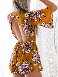 + Bright Floral Romper - Perfect for special occasions! +