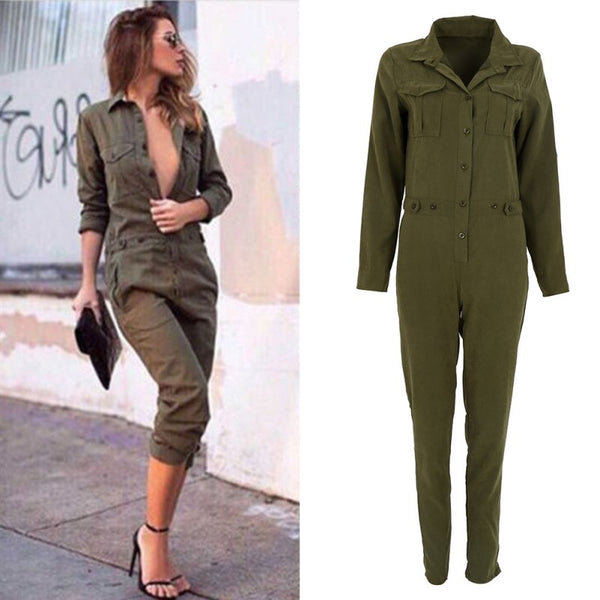 Army Green Rompers for Fall/Winter