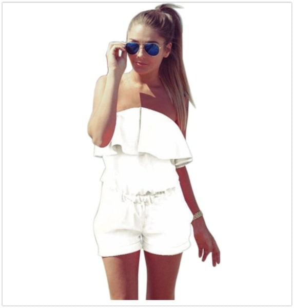 Casual Off the Shoulder Rompers