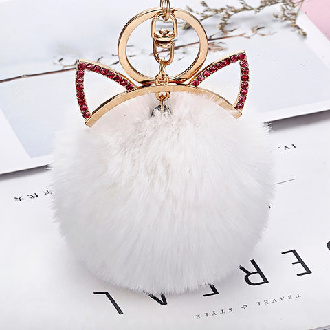 Cute & fluffy rabbit fur ball (imitation fur)