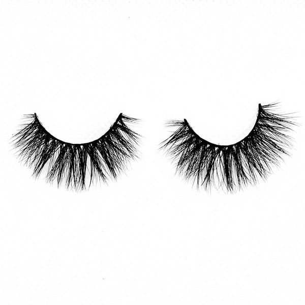 "Princess-High Volume-Are you a full face of makeup type of girl? Make ""Princess"" your go-to mink lashes for a BOLD and SEXY look! ""Princess"" is for our PRETTY ladies that love the drama. These are extra fluffy, soft, and lightweight on your eyes. Full volume from root to end, you won't go unnoticed. Also available in our ""Best Sellers (3-Pack)"" and ""Dramatic (3-Pack)"" Description Handmade, Cruelty-Free, Wear up to 30x Material: 100% Mink Band: Thin, Black Cotton Band Volume: High Style: Dramatic"