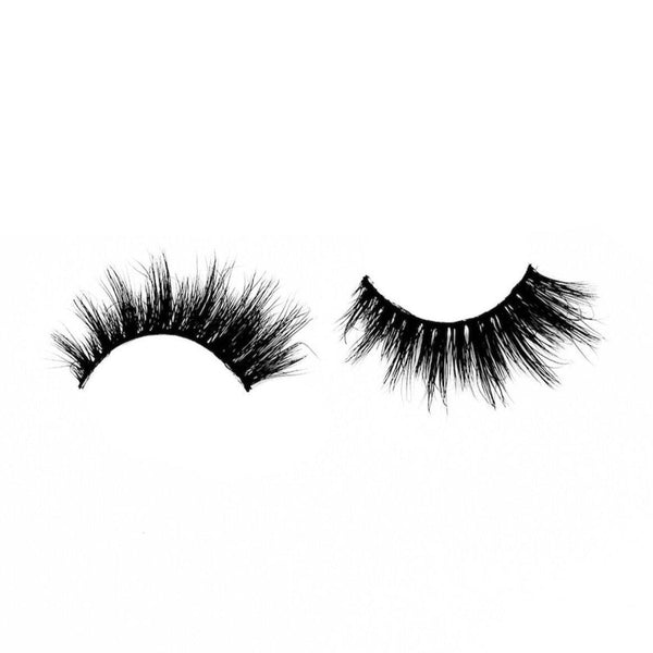 "Charmer-Medium Volume-Our super cute, wispy, and flirty 3D Mink lashes ""Charmer"" are quite the charm! ""Charmer"" is a MUST HAVE for your natural lashes collection, especially if you love wispy lashes. The layered lengths plus added length on the outer corners is the perfect combo for a fun, flirty look. Description Handmade, Cruelty-Free, Wear up to 30x Material: 100% Mink Band: Black Cotton Band Volume: Medium Style: Wispy, Flirty, Cat-eye, Natural To Use: Measure and size your lashes by placing"